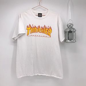 Men's Thrasher Fire Logo Tee
